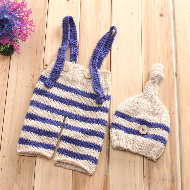 Newborn Baby Girls Boys Crochet Knit Costume Photo Photography Pro Outfits