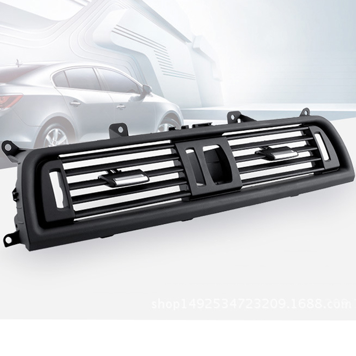Car Front Dash Panel Center Fresh Air Outlet Vent Grille Cover For BMW 5 F10 F18