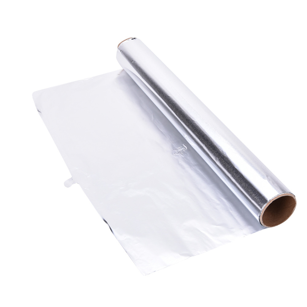 Honana Household Tinfoil Oil Paper Aluminum Foil Non-stick Baking BBQ Paper Sturdy Oven Grill Mat Paper Wrappers Silver Rolls Metal Thicken Boxed Economic Kitchen Tool 5M / 10M