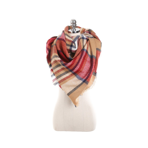 Image of 140CM Damen Herbst Plaid Decke Schal Wraps Casual Warm Soft Schals