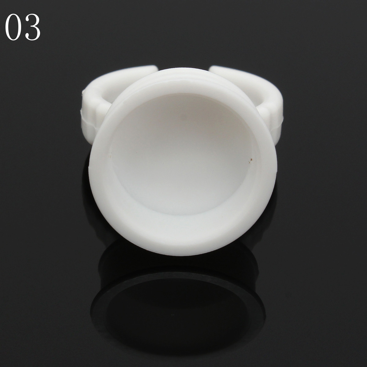 10Pcs White Plastic Ring Ink Tattoo Cups Tattoo Supplies Permanent Makeup