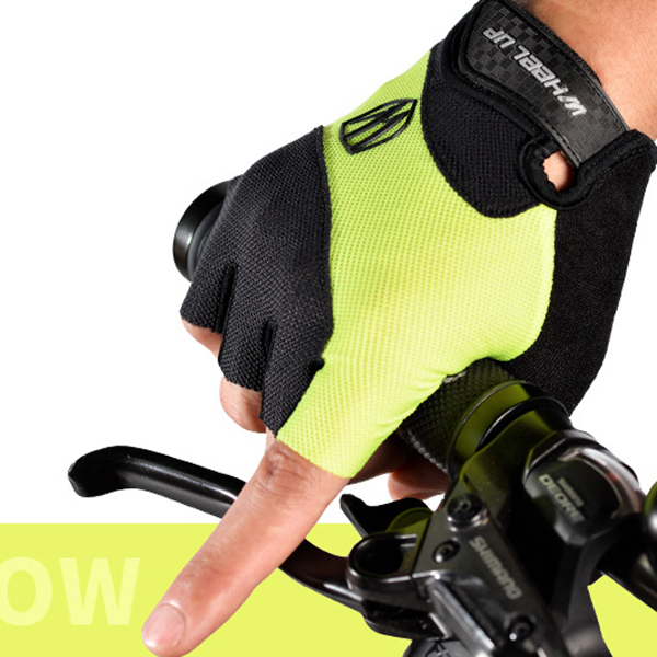 Men Half Finger Bike Riding Gloves Summer Breathable Non-Slip Sports Gloves