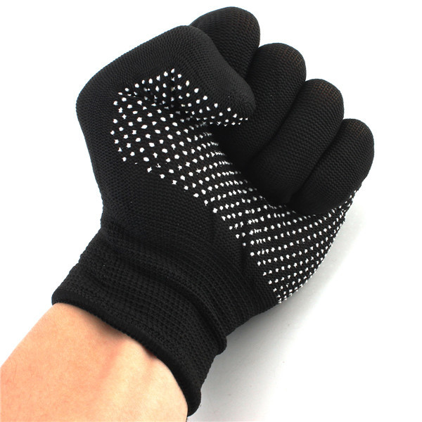 1 Pair Heat Resistant Finger Glove Hair Straightener Perm Curling Hairdressing Hand Protector