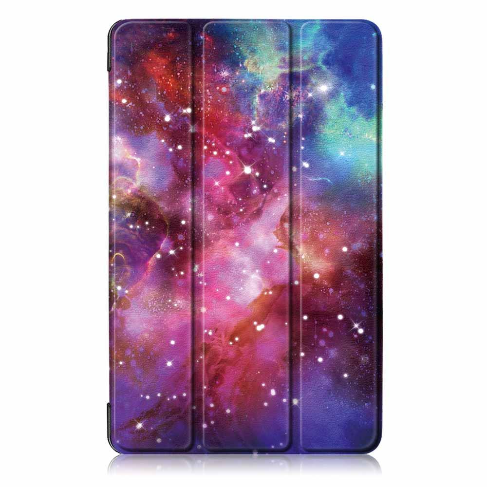 Tri-Fold Pringting Tablet Case Cover for Samsung Galaxy Tab A 8.0 2019 SM-P200 P205 Tablet - Milky Way Galaxy