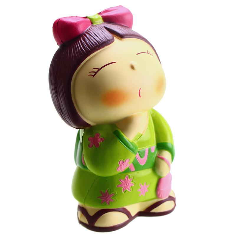 Vlampo AppleBlossoms Squishy Japan Kimono Girl Licensed Slow Rising Original Packaging Collection Gift Decor