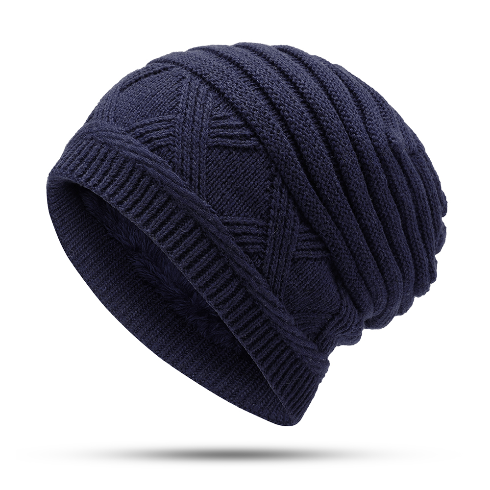 Men Women Winter Thicken Plus Velvet Earmuffs Beanie Caps