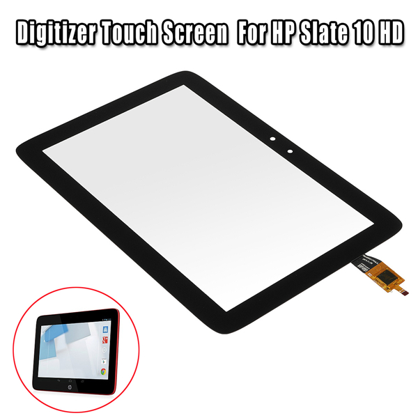 Black Digitizer Touch Screen Replacement Part For HP Slate 10 HD Tablet