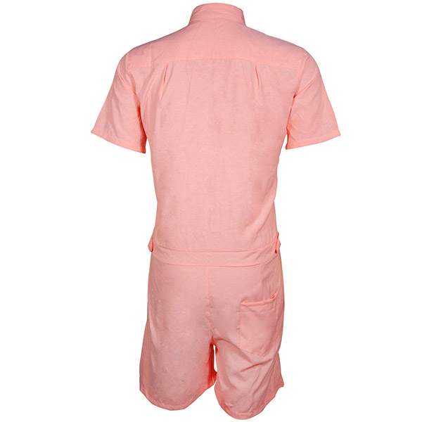 Mens Summer Fashion Pure Color Rompers Jumpsuits