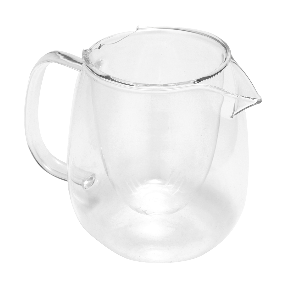 600ML Heat Resistant Clear Glass Coffee Tea Pot Leaf With Strainer Filter Infuser
