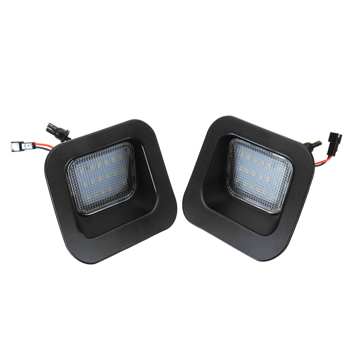 Pair LED License Number Plate Lights White for Dodge RAM 1500 2500 3500 2003-2015
