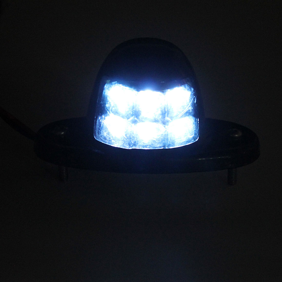 Waterproof LED Number License Plate Lights with Reflector DC 12-24V for Trailer Truck Boat