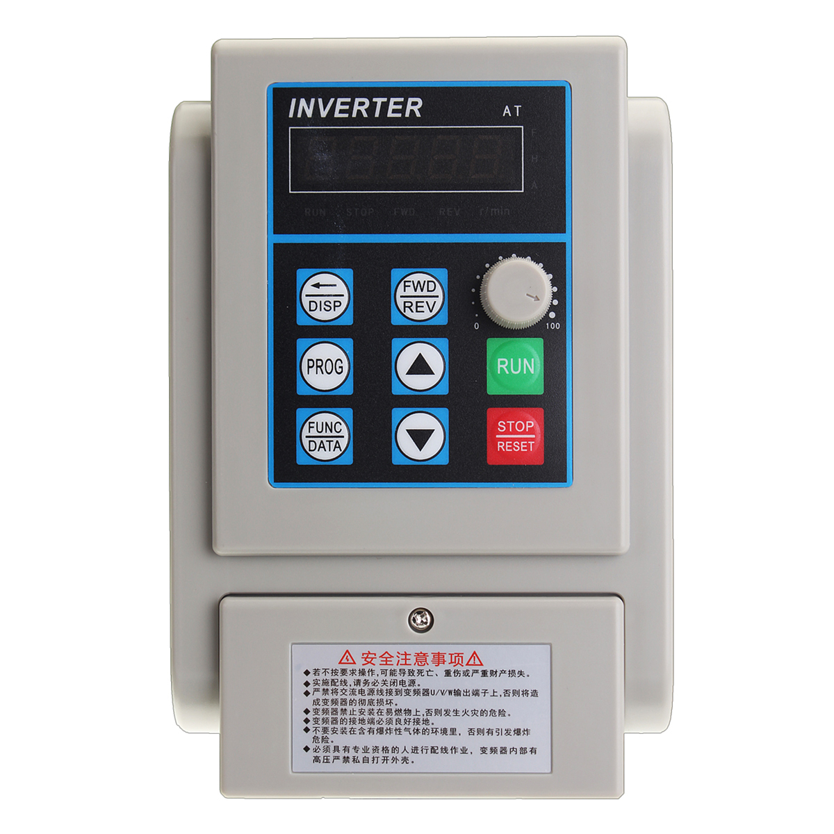 4KW 220V 20A Single Phase Input 3 Phase Output Frequency Converter Drive Inverter 6HP VFD VSD