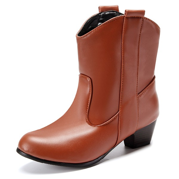 US Size 5-12 Women Short Boots Casual Outdoor High Heel ComfortableBoots