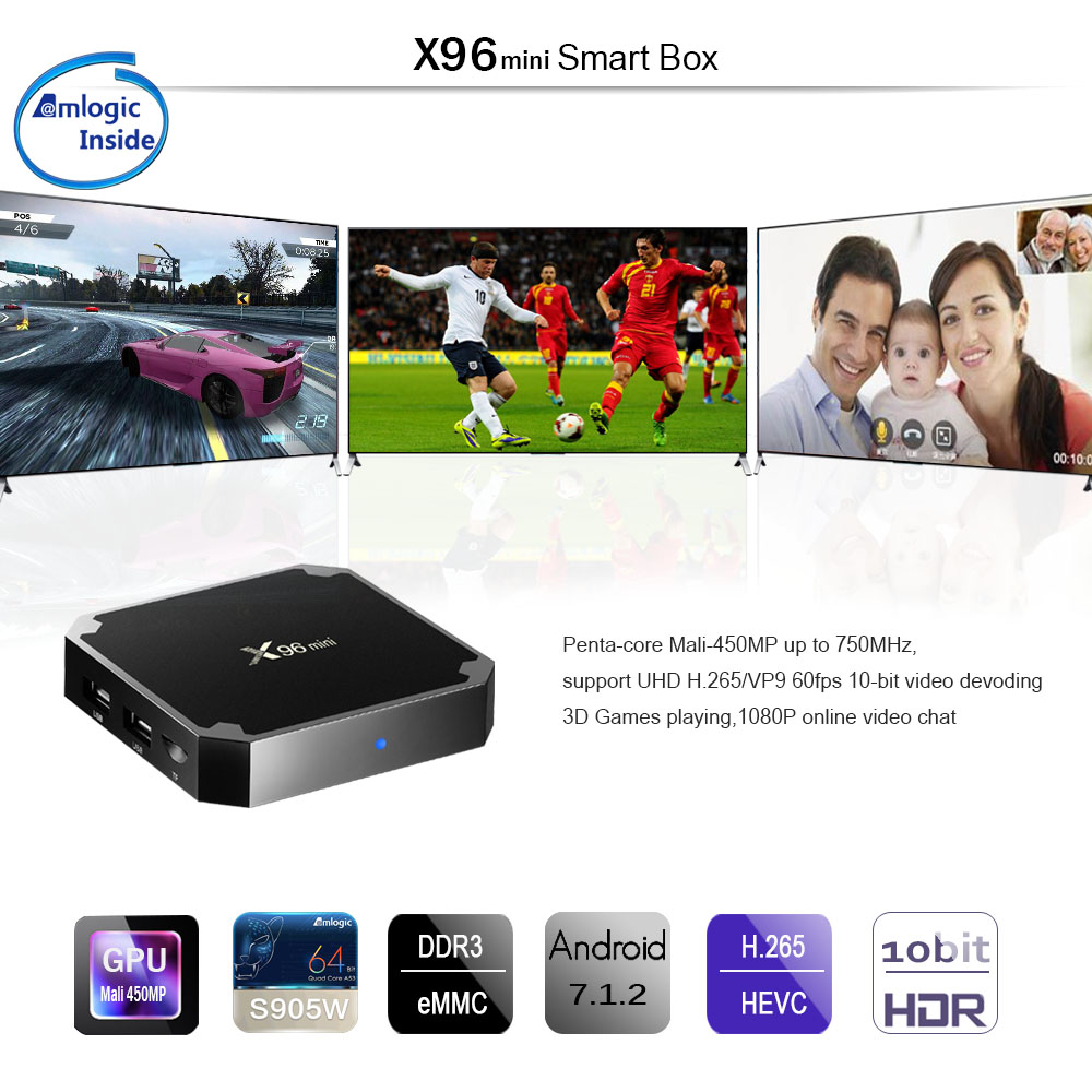 X96 MINI Amlogic S905W 1GB RAM 8GB ROM TV Box