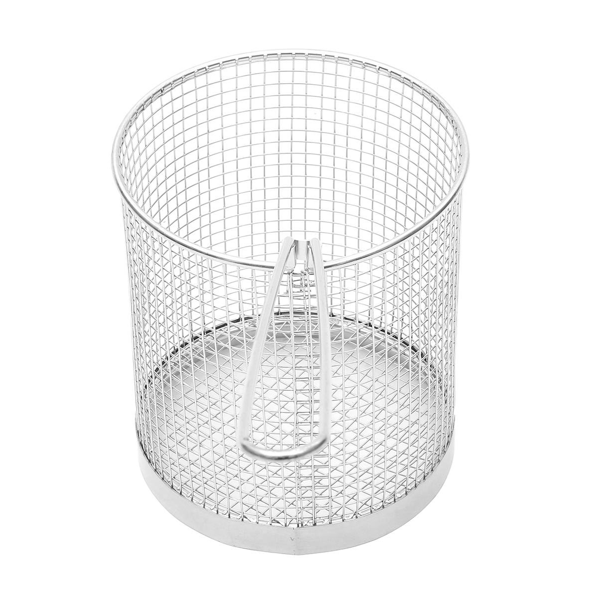 Stainless Steel Round Fry Basket Long Handle Fried Scampi Chips Chicken Fryer Strainer