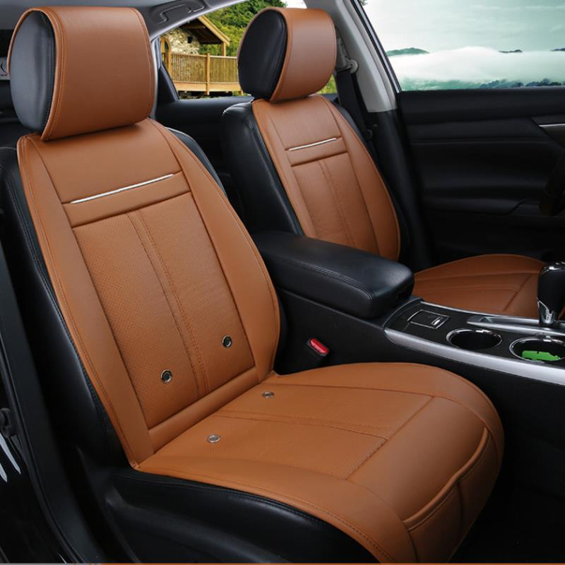 Купить со скидкой 3 In 1 Leather Car Cooling Warm Heated Massage Chair Seat Cushion Universal Auto Seat Cover