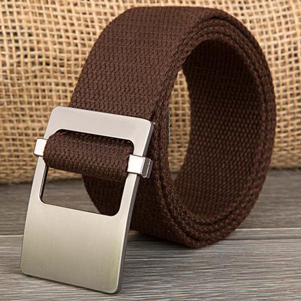 140CM Unisex Men Women Military Solid Belt Adjustable Buckle Weave Canvas Waistband Pants Strip