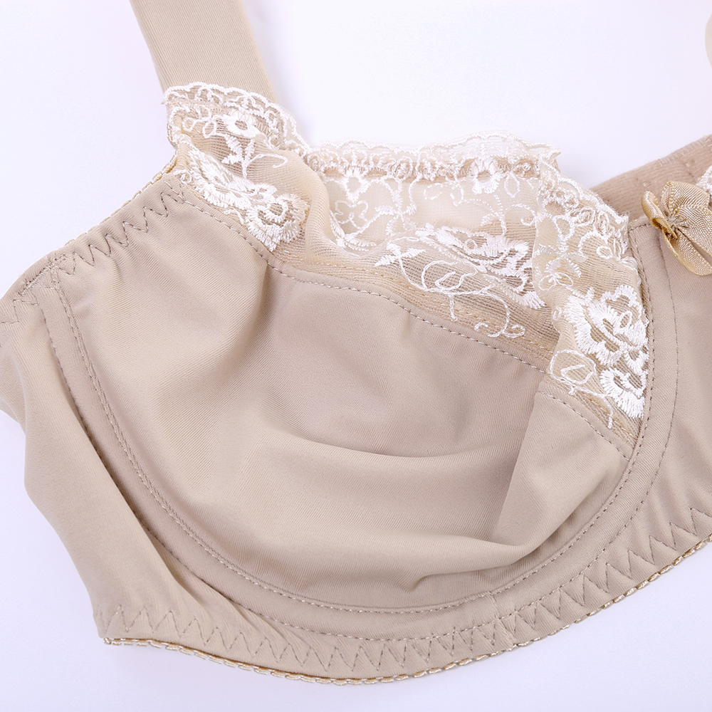 Push Up Underwire Full Busty Cotton Lining Plus Size Bra