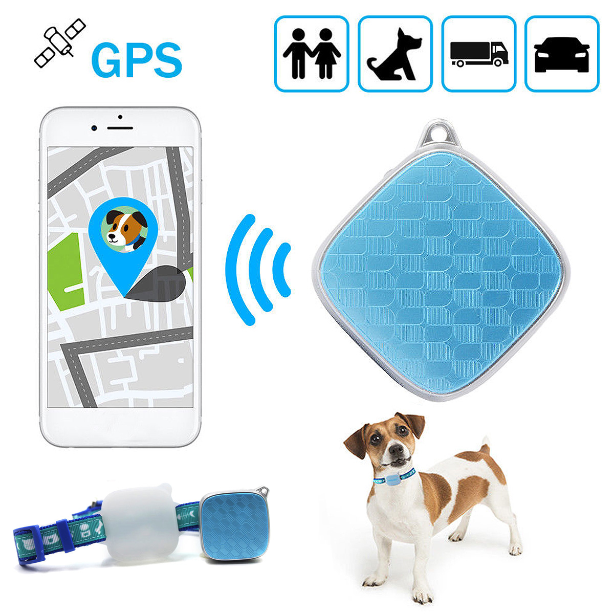 Mini Waterproof Locator Dog Cat Pet GPS Tracker Tracking Devices Real Time