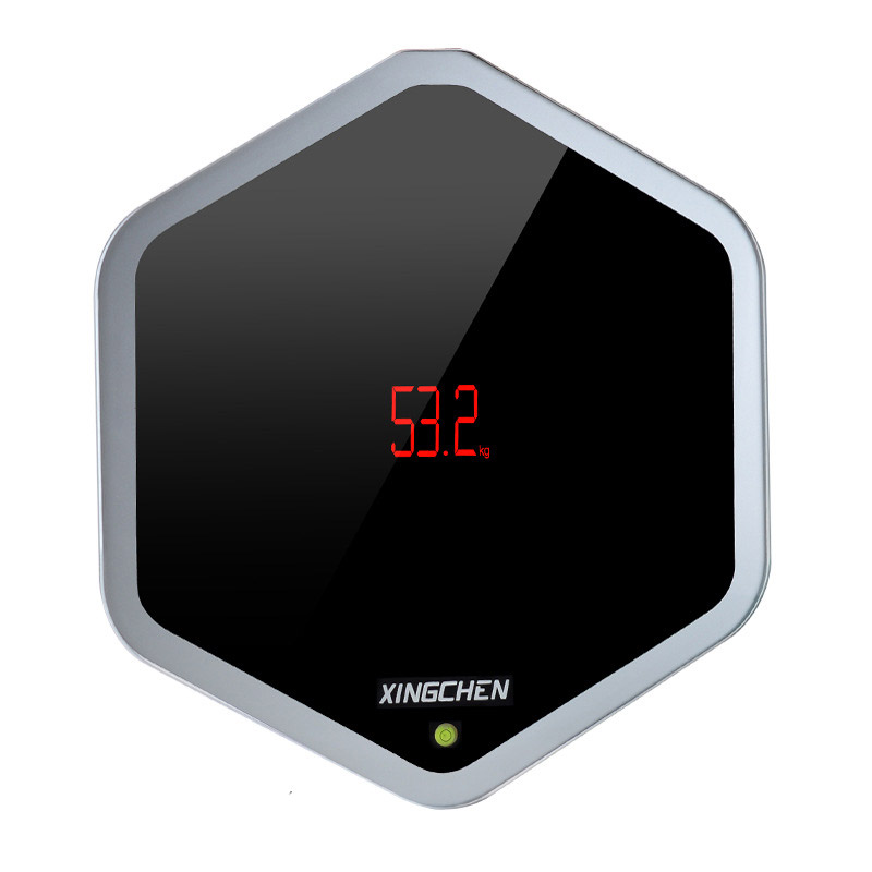 Dual purpose hexagon height weight digital lcd bath for Are smart scales worth it