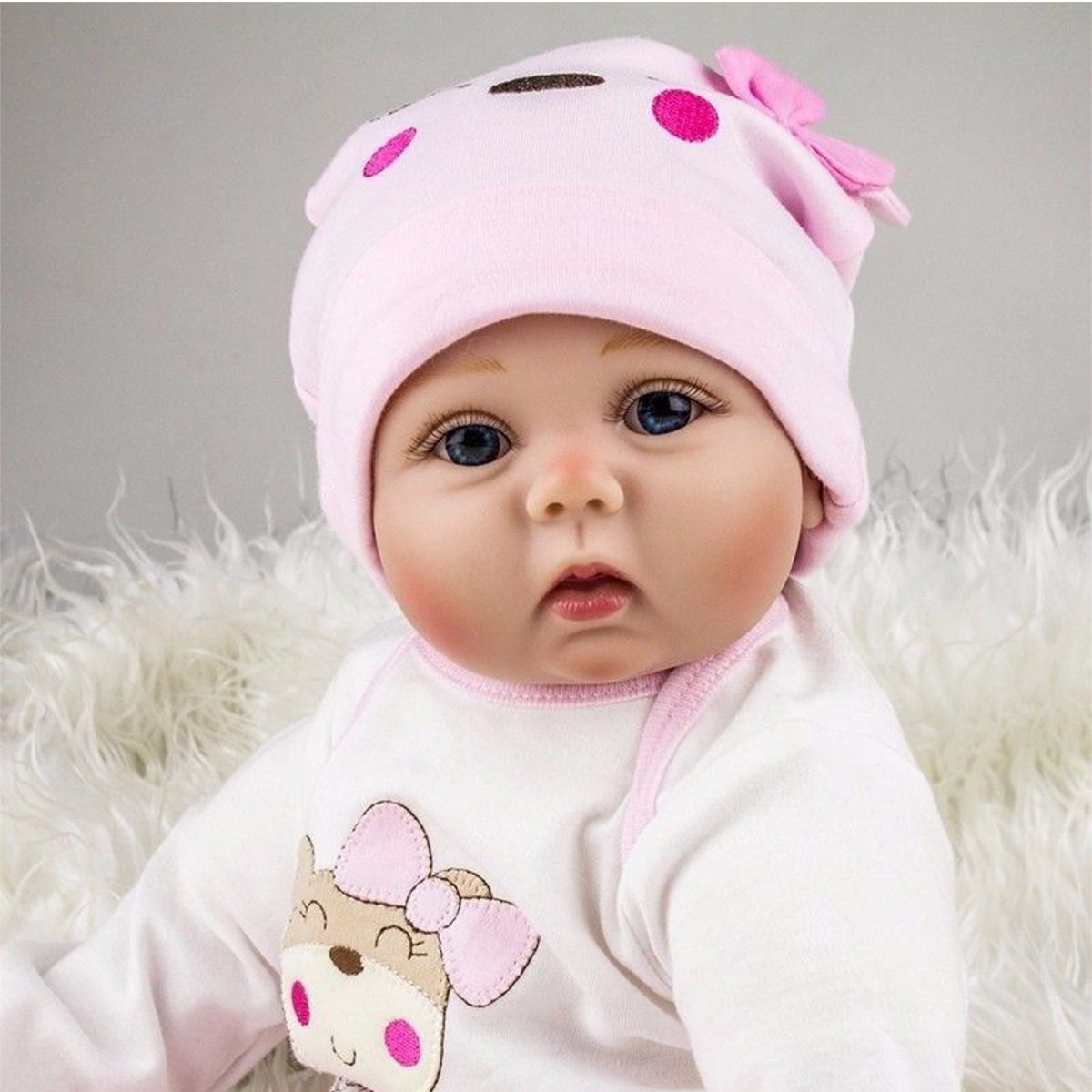 NPK 19 Inch 50cm Reborn Baby Soft Silicone Doll Handmade Lifelike Baby Girl Dolls Play House Toys Birthday Gift