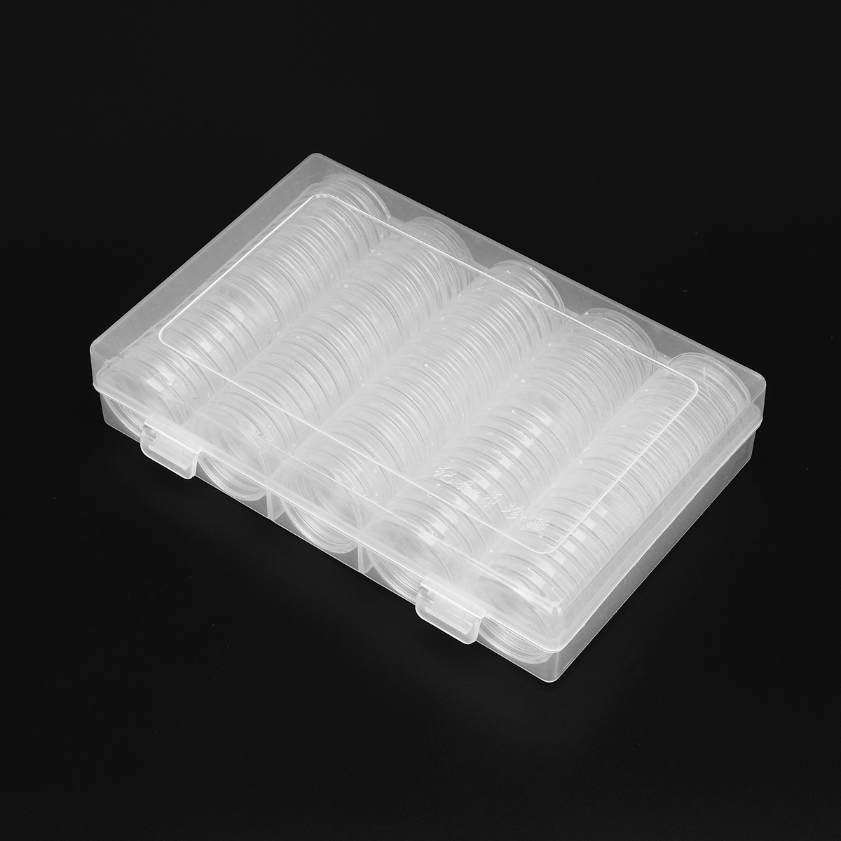 100Pcs Clear Round Coin Case Capsule Container Coin Holder Storage Box For 25/27/30mm