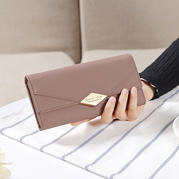 Women Soft PU Clutch Wallet