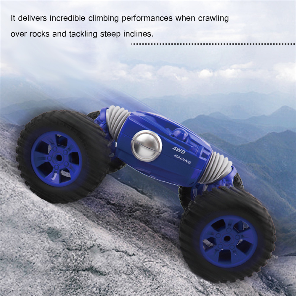 9901 1/16 2.4G 4WD Double Sided Stunt Rc Car One Key Transformation Off-road Truck
