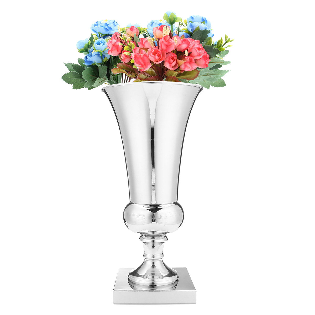 40cm Iron Luxury Flower Vase Display Wedding Table Centrepiece Home Party Decor Silver