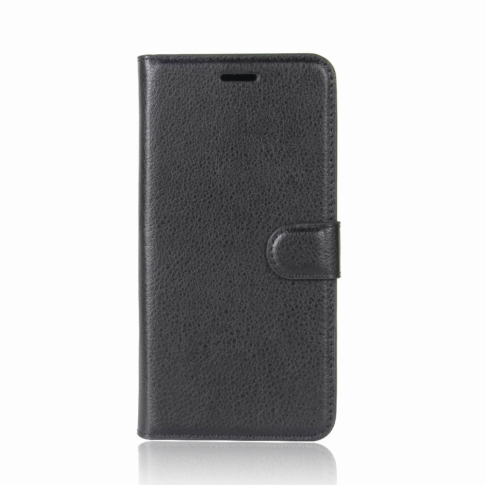 Litchi PU Leather Flip Card Slots Bracket Wallet Case for Samsung Galaxy S9