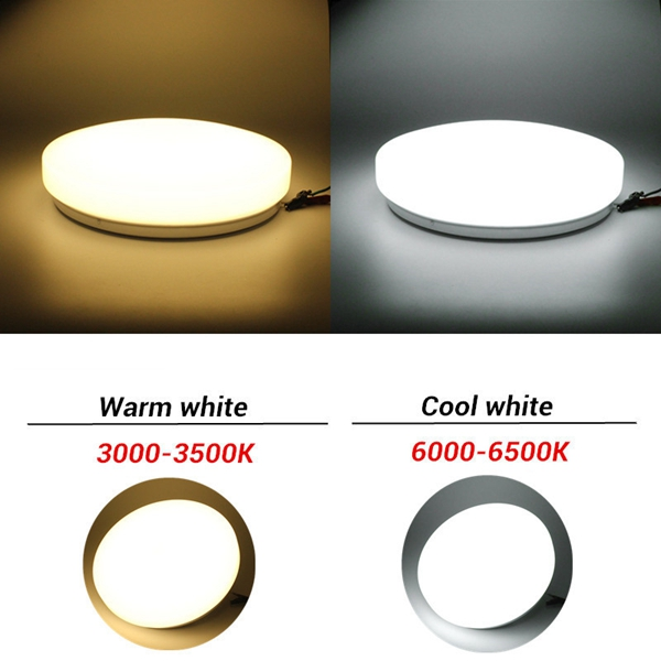 Modern 15W LED Round Ceiling Panel Light Down Lamp Kitchen Bathroom