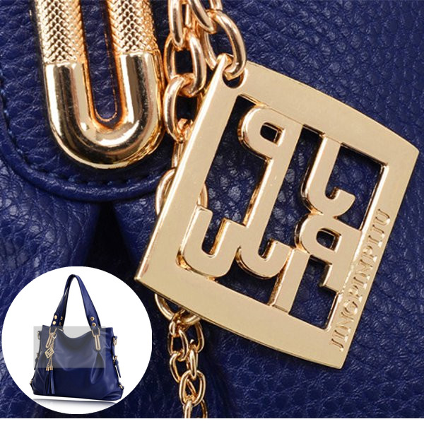 Women Casual PU Leather Pendant Handbag Crossbody Bag