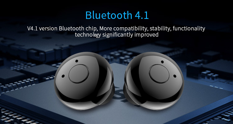 [True Wireless] ESON Style W13 Double Bluetooth Earphones Bass Headphones with 2200mAh Charging Box