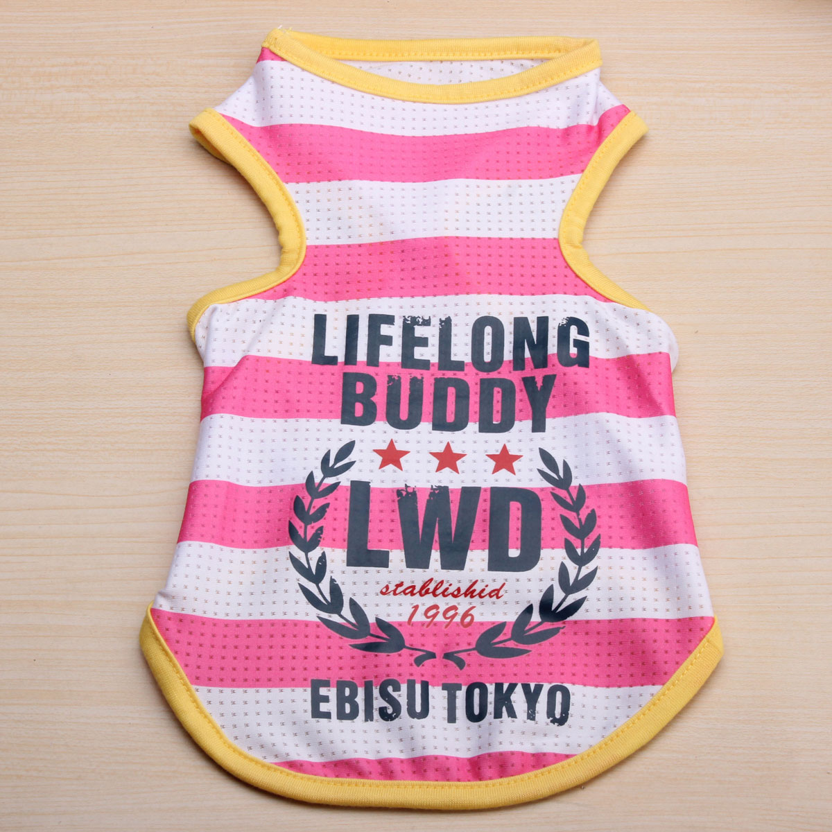 Pet Dog Cat Clothes Cotton Striped Small Pet Puppy Dog T Shirt Clothing Vest Summer Apparel Costume