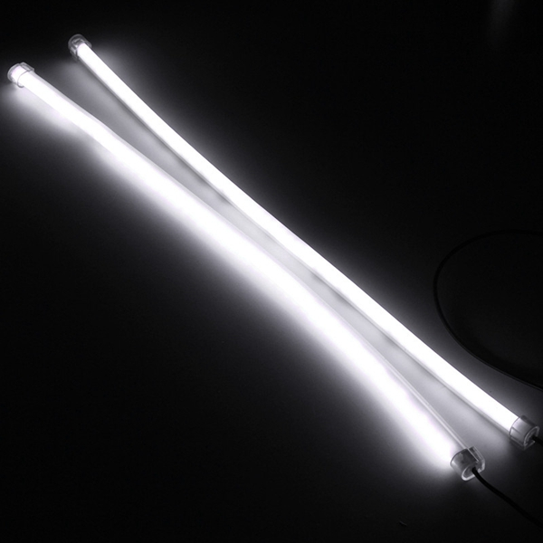 2pcs 45CM SMD3014 Flexible LED Strip Light DRL Daytime Running Lamp For Motorcycle Scooter Car