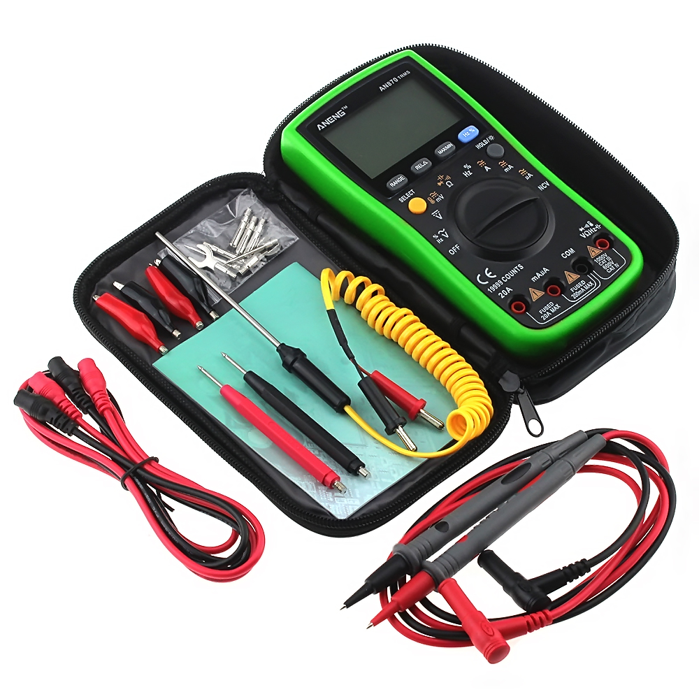 ANENG AN870 Auto Range Digital Multimeter 19999 Counts True-RMS NCV AC/DC Voltage Green