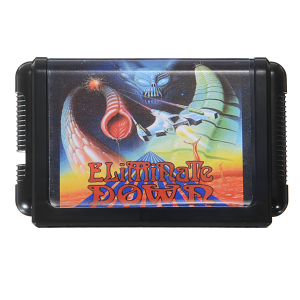 Eliminate Down Game Cartridge 16 bit Game Card for Sega MegaDrive Genesis PAL NTSC System