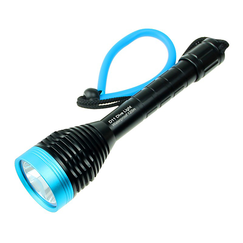 HOOZHU D11 Underwater 100m U2 1000LM 3Modes Diving Light Dive Flashlight Suit with 18650 & Charger & Bracket