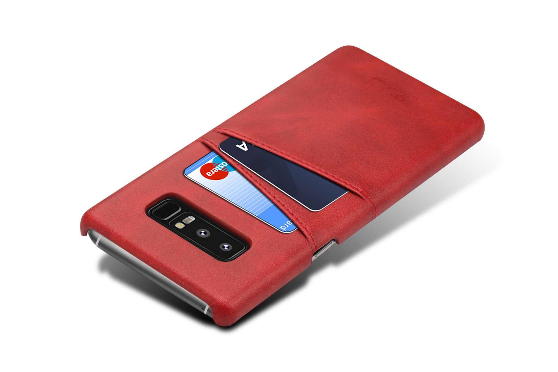 Premium Cowhide Leather Card Slot Case For Samsung Galaxy Note 8