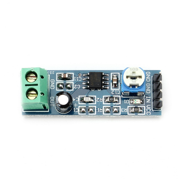 LM386 Module 20 Times Gain Audio Amplifier Module With Adjustable Resistance