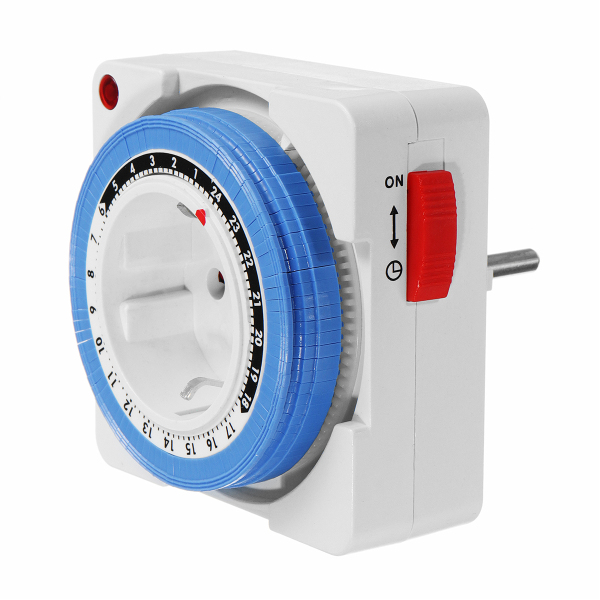 Excellway® 230V 16A 24 Hour Mechanical Timer Switch Outlet Mechanical Timing Socket EU Plug