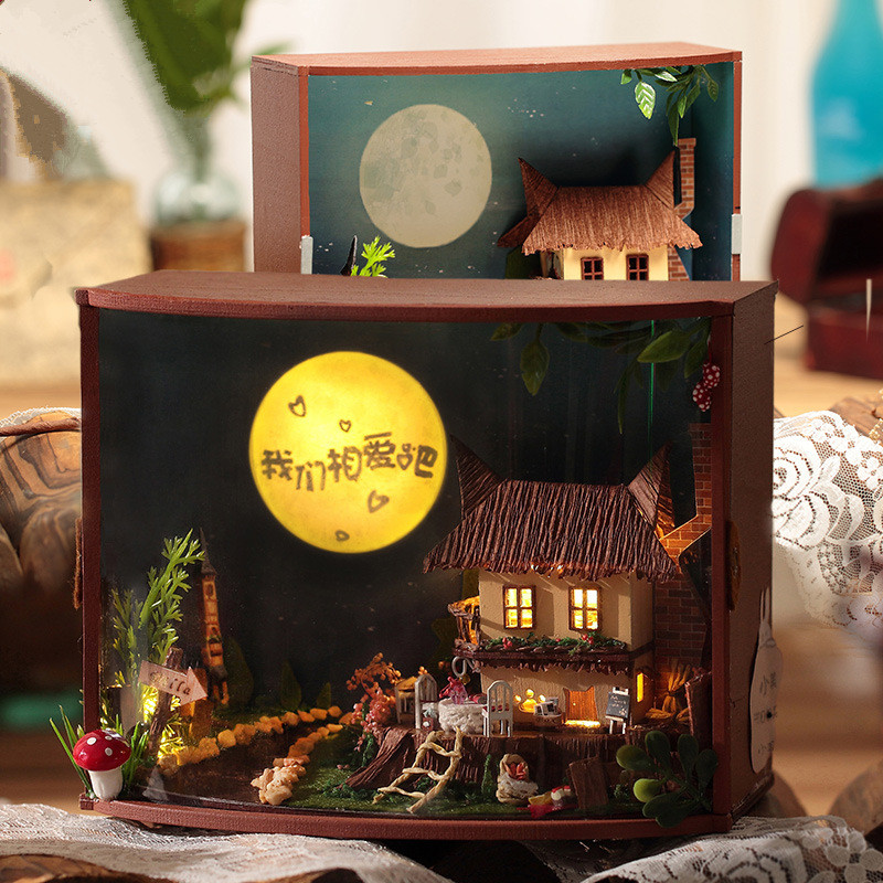 T-Yu TY2 Moonlight Forest DIY Doll House With Cover Light Gift Collection Decor Toy