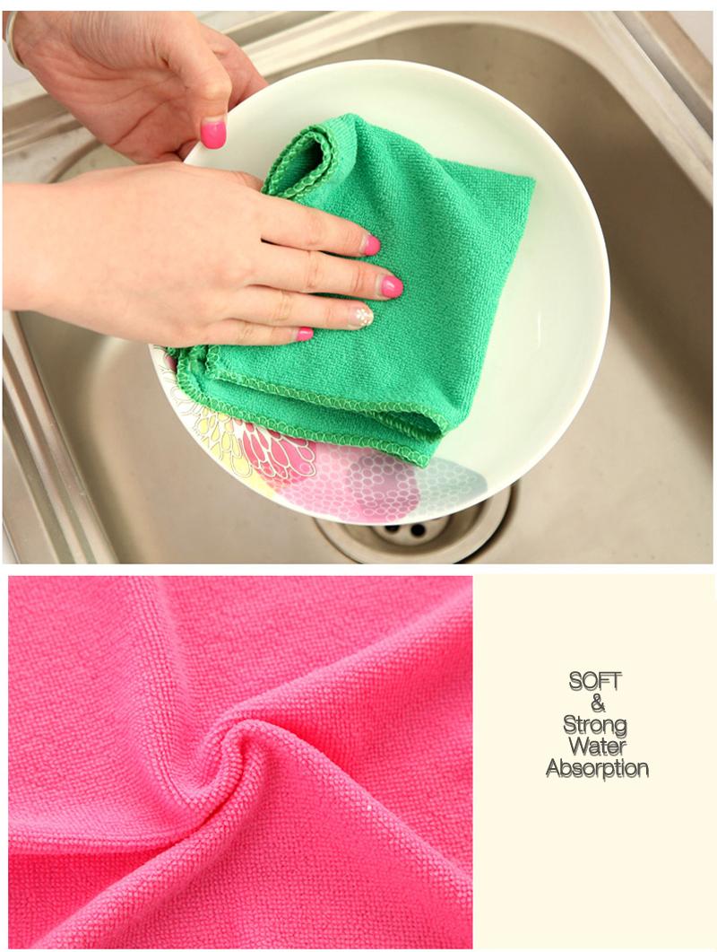 KCASA KC-CS13 Scouring Bamboo Microfiber Dishcloth Multifunctional Bath Cleaning Washing Towel Cloth