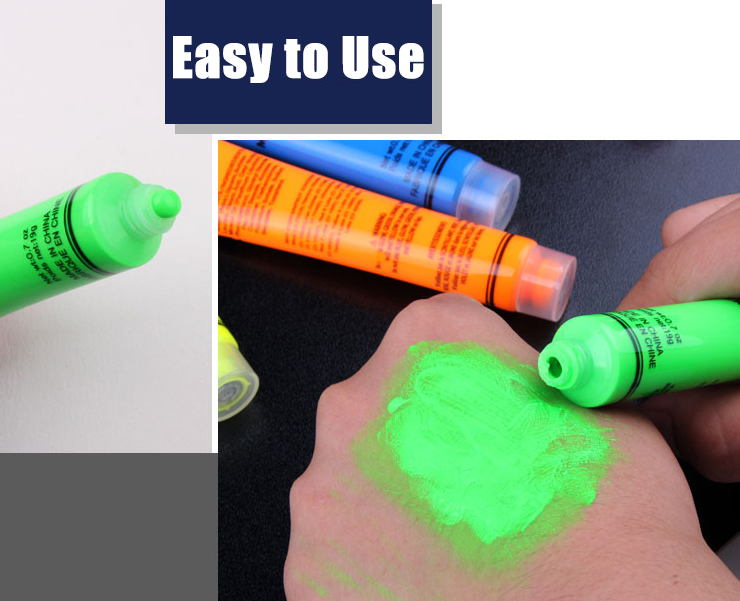 Halloween Body Paint Oil Drawing Ghost Squishy Cream Toys Fluorescent Yellow Flash Tattoo Makeup