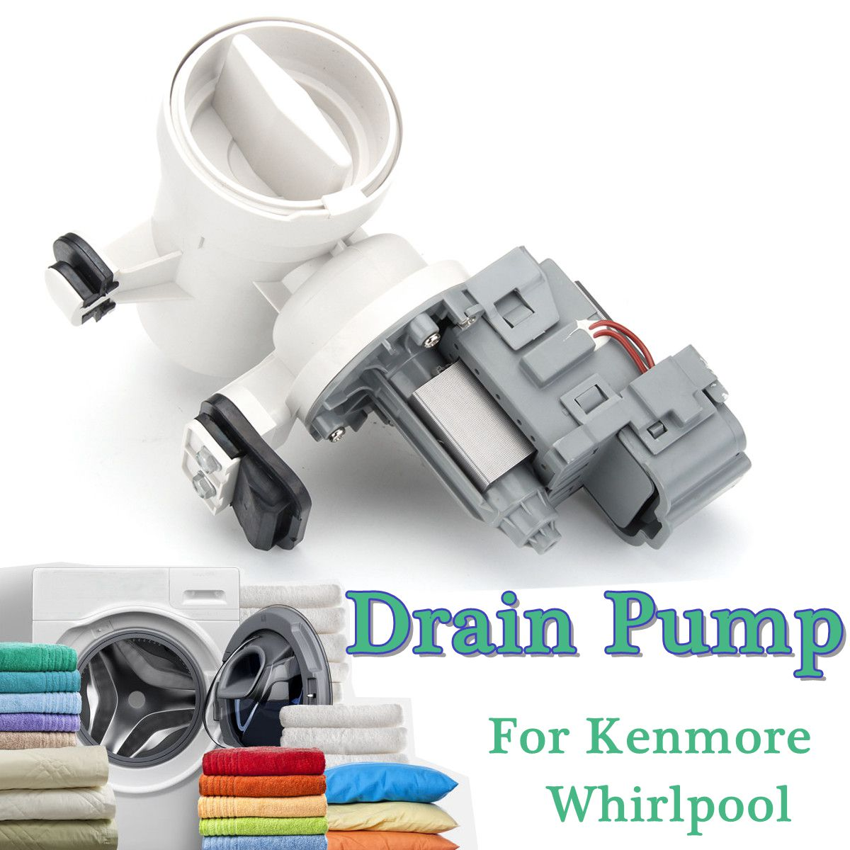 Water Drain Pump W10730972 8540024 W10130913 Washing Machine For Kenmore Whirlpool