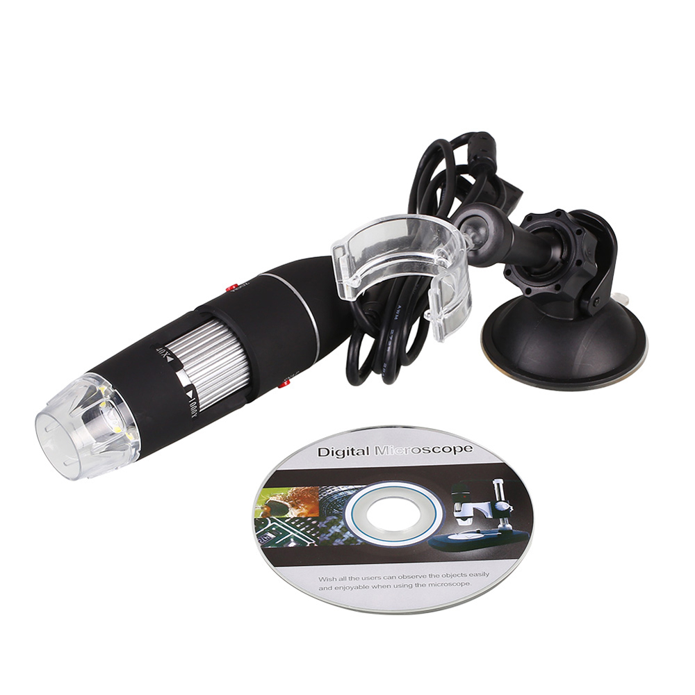 2pcs DANIU White and Grey New USB 8 LED 500X 2MP Digital Microscope Endoscope Magnifier Video Camera with Suction Cup Stand