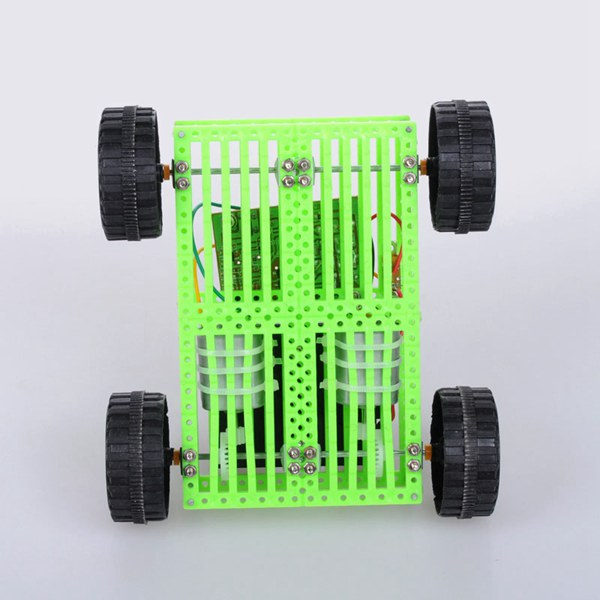 DIY Green 4 Channel Remote Control Smart Car Kit NO.15 For Children 130 x 120 x 40mm
