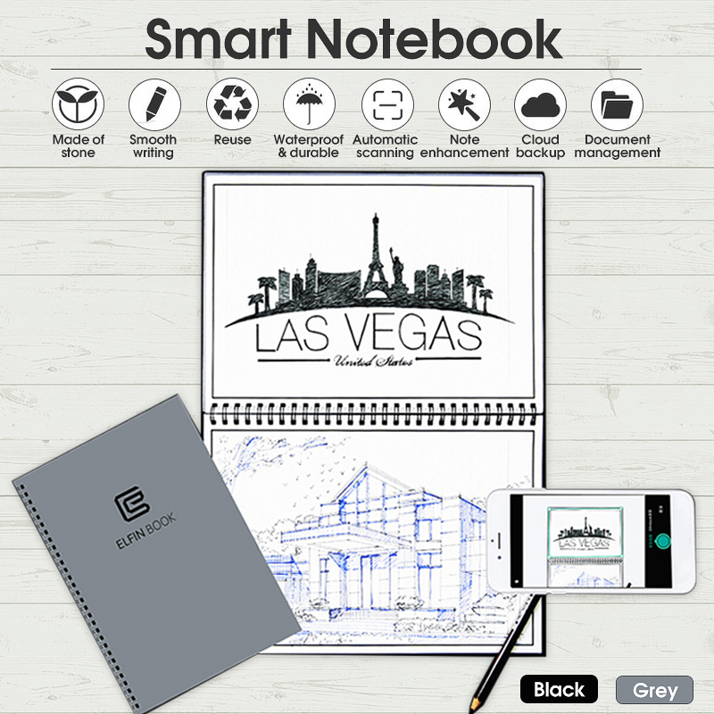 NEW Rocketbook Wave Smart Notebook + Pen Microwave Erasable Executive Bundles