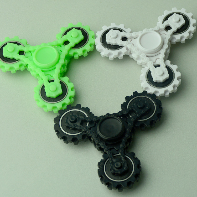 Four Gears Tri Spinner Fidget Hand Spinner Focus Attention EDC Reduce Stress Focus Attention Toys