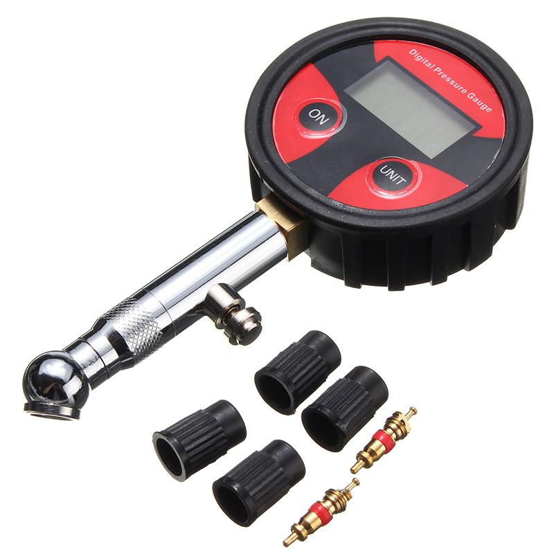 200psi LCD Digital Tire Tyre Air Pressure Gauge Tester For Car Auto Motorcycle Bike